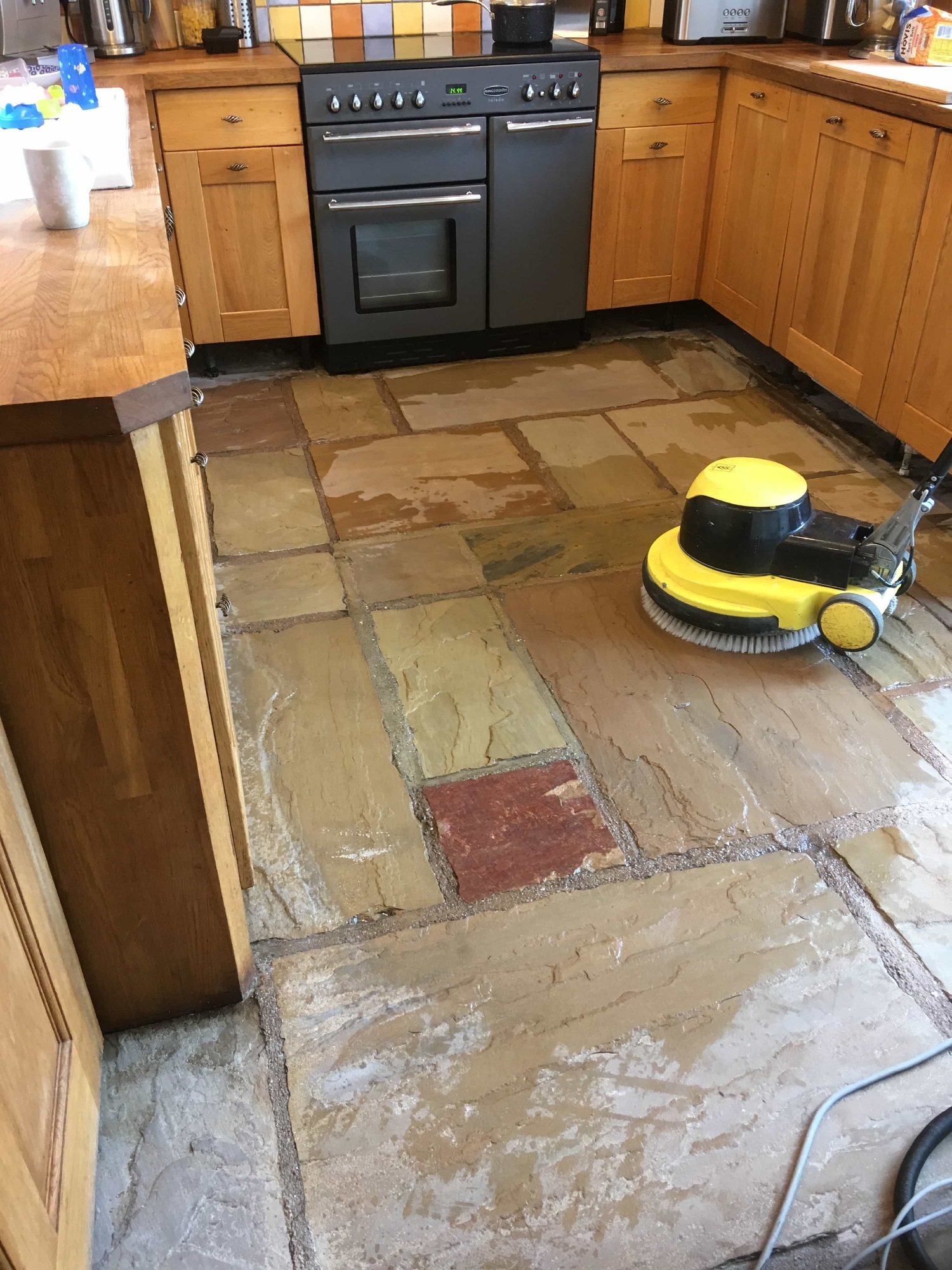 Sandstone Floor During Renovation